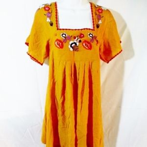 NEW MADEWELL Embroidered PUEBLA Peasant Dress